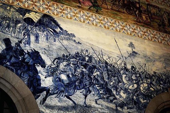 Tile Murals at Porto, Portugal Train Station