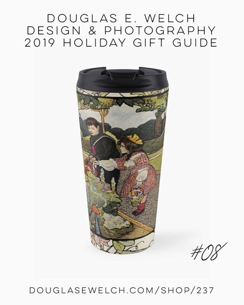 "Holiday Gift Guide 2019 08: Vintage Art from ""A little garden calendar for boys and girls"" book Travel Mug and More! [For Sale]"