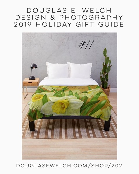 Holiday Gift Guide 2019 12: Vintage Daffodils Throw Blanket and More! [For Sale]