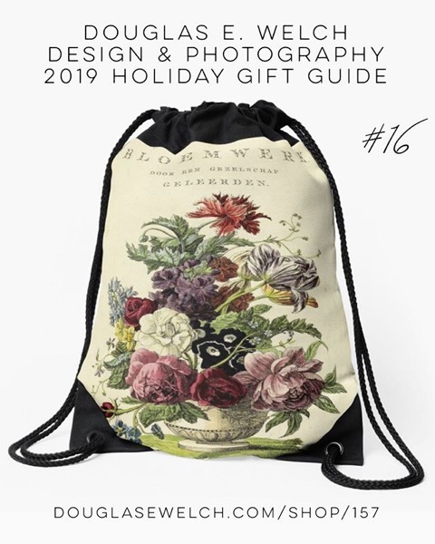 Holiday Gift Guide 2019 16: Nederlandsch bloemwerk (Dutch Flower Arrangements) from 1794 Drawstring Bag and More! [For Sale]