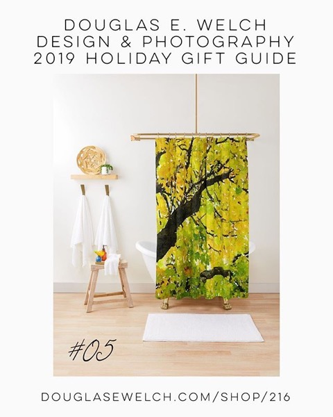 Holiday Gift Guide 2019 05: Fall Leaves In California Shower Curtain And More