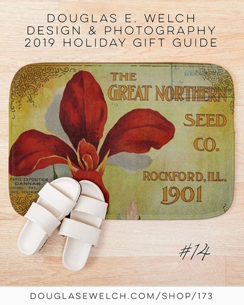 Holiday Gift Guide 2019 14: Memories Of Gardens Past Bath Mat and More! [For Sale]