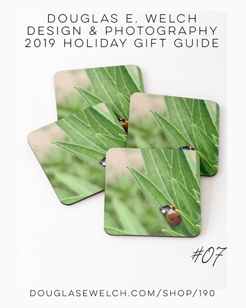 Holiday Gift Guide 2019 07: A Ladybug Sleeps Coasters and More! [For Sale]