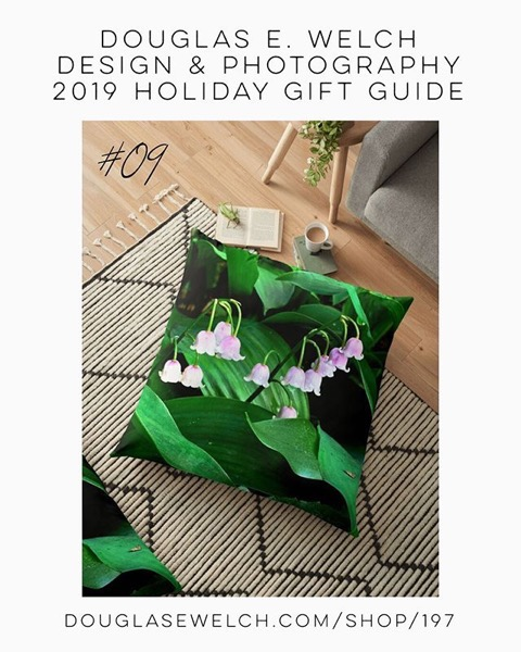 Holiday Gift Guide 2019 09: Lily of the Valley Floor Pillow and More! [For Sale]