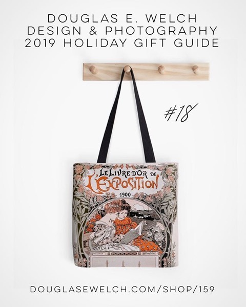 Holiday Gift Guide 2019 18: Le Livre D'Or de L'Exposition 1900 (The Gold Book of the 1900 Exhibition) Tote Bag and More! [For Sale]