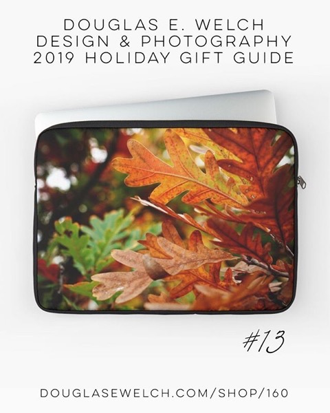 Holiday Gift Guide 2019 13: Oak Leaves In Autumn Laptop Cases and More! [For Sale]