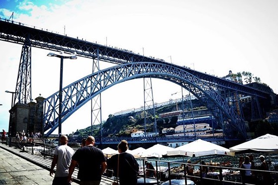Under the Pont Luis I Bridge, Porto, Portugal via Instagram