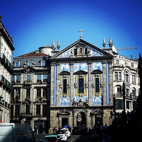 Ceramic Tile Facade in Porto, Portugal via Instagram
