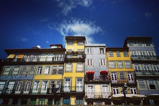 Tiled Facades Along The Douro River, Porto, Portugal via Instagram
