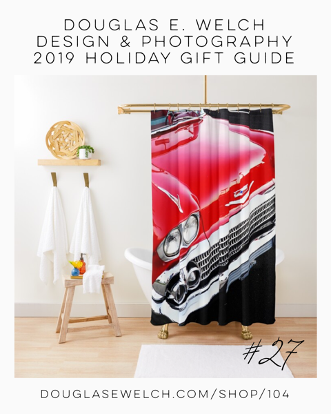 Holiday Gift Guide 2019 27: Rev Up Your Home With This Red Chevy Shower Curtain and More! [For Sale]
