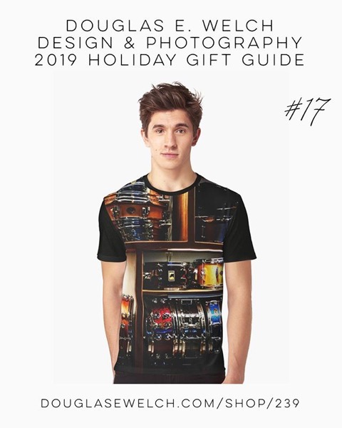 Holiday Gift Guide 2019 17: Pretty Snare Drums All In A Row Graphic T-Shirt and More! [For Sale]