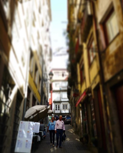 Strolling, sun and shadow, Porto, Portugal via Instagram