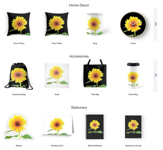 Recently Purchased from Douglas E. Welch Design and Photography - Sunflower in Watercolor Classic T-Shirt