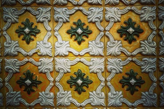 Decorative Ceramic Tile on Building Facade via Instagram
