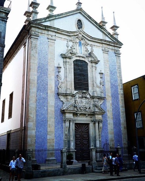 Tiled Facade of Church, Porto, Portugal via Instagram