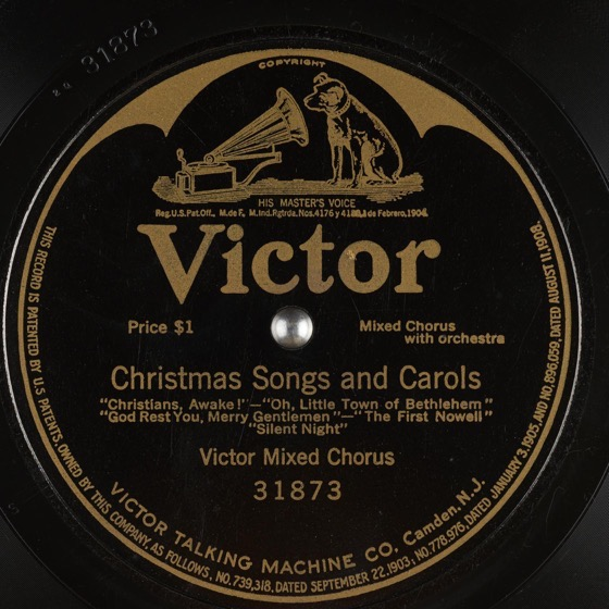 Christmas Past – 15 in a series – Christmas Songs and Carols by Victor Mixed Chorus (1912)
