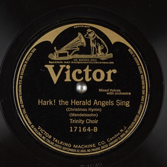Christmas Past - 13in a series - Hark! the Herald Angels Sing by Trinity Choir (1911)