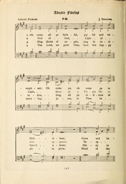 Christmas Past - 19 in a series - Community Christmas Carols (1900)