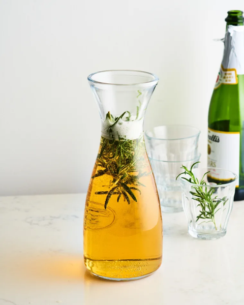 Pitcher Cocktail Recipe: Sparkling Rosemary Cider via Kitchn