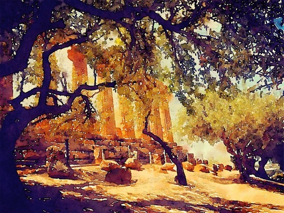 Travel To Sicily With These Greek Temple and Olive Tree Tees, Laptop Covers and More From Douglas E. Welch Design and Photography [For Sale]
