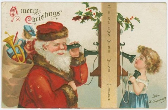 Christmas Past - 9 in a series - Vintage Christmas Cards from the New York Public Library Digital Collections