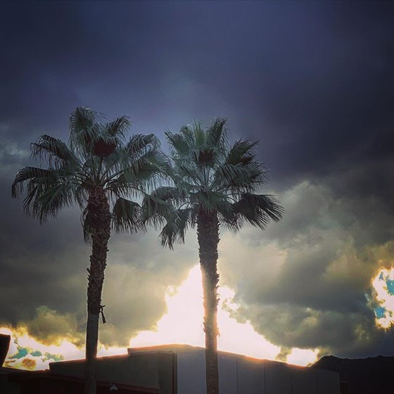 After the storm, Palm Desert, California via Instagram