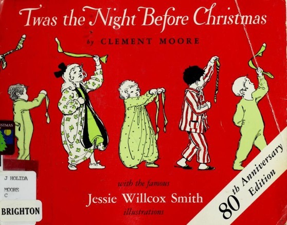 Christmas Past - 16 in a series - Twas the night before Christmas; a visit from St. Nicholas (1912)