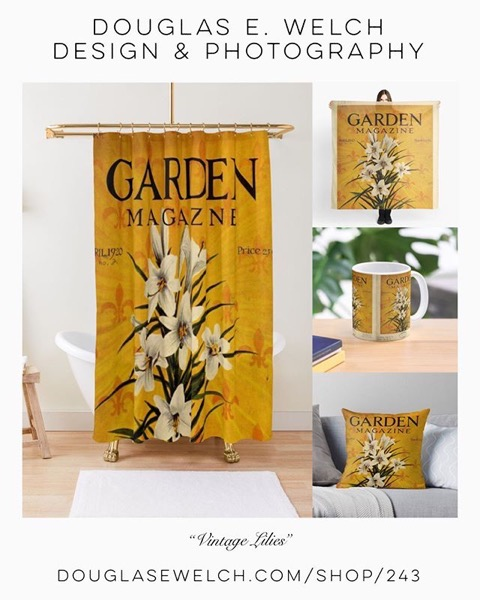 15% Off Everything Today! - Get These Amazing Vintage Lillies on Shower Curtains, Pillows, and More From Douglas E. Welch Design and Photography [For Sale]