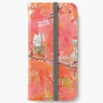 Liquidambar Leaves in Autumn iPhone Wallet