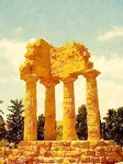 Temple of Castor and Pollux, Valle dei Templi, Agrigento, Sicily, Italy