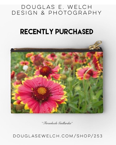 Firewheels Gaillardia Zipper Pouch - Recently Purchased from Douglas E. Welch Design and Photography [For Sale]