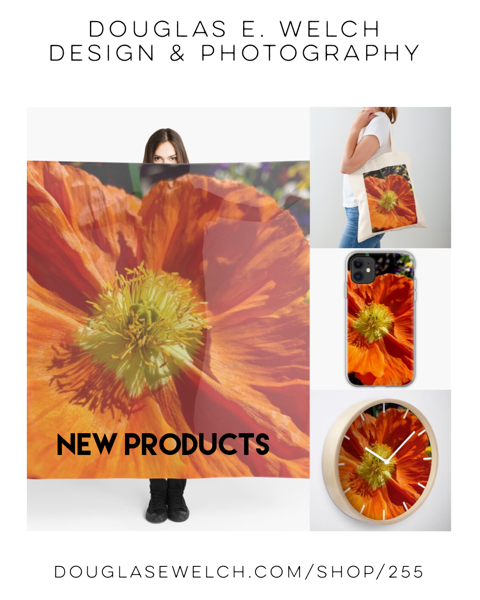 New Products: Orange Poppy Scarves, Cases and More! [For Sale]