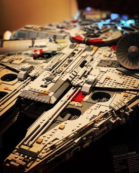 LEGO Millenium Falcon built by Joseph Welch via Instagram