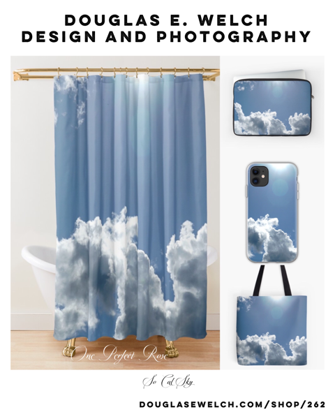 So Cal Sky Shower Curtains, Pillows and More From Douglas E. Welch Design and Photography [For Sale]