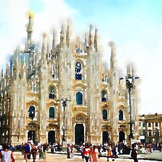 Duomo di Milano in Watercolor