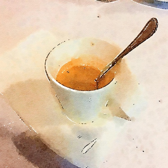 Morning Coffee in Watercolor via Instagram