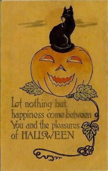 Halloween 2020 - 8 in a series - Vintage Halloween Card