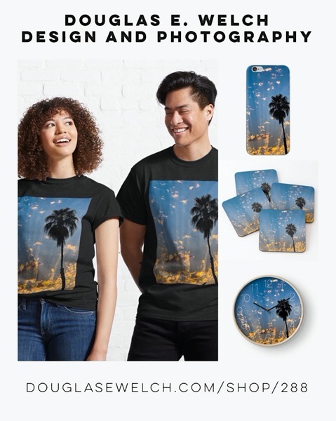 New Design: Summer Sky Sunbeams Tees and More Exclusively From Douglas E. Welch Design and Photography [For Sale]