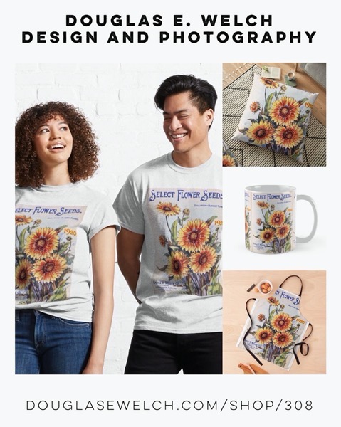 New Design: Vintage Garden Seed Catalog Cover Tees and More from Douglas E. Welch Design and Photography [For Sale]