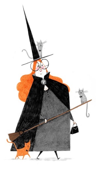 Halloween 2020 - 10 in a series - Witch Illustration from Alex T. Smith
