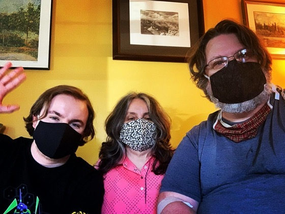 New family-made masks! via Instagram