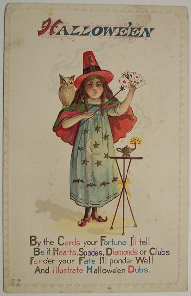 Halloween 2020 - 36 in a series - Vintage Halloween Postcard