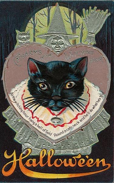 Halloween 2020 - 29 in a series - Vintage Halloween Postcard