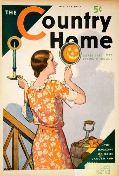 Halloween 2020 - 31 in a series - Vintage Country Home Magazine Cover