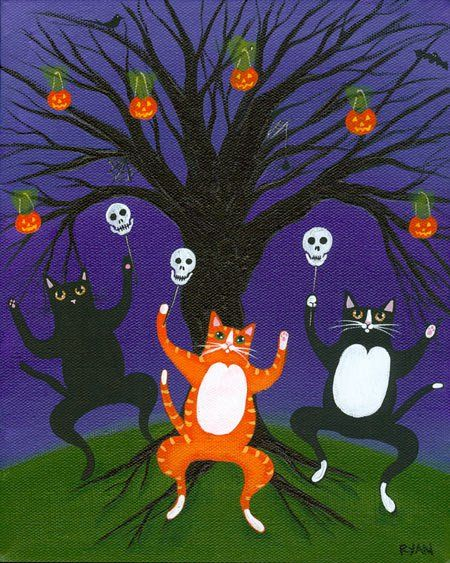 Halloween 2020 – 44 in a series – Dancing Halloween Cats by Ryan Connors