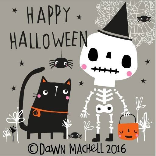 Halloween 2020 - 27 in a series - Happy Halloween by Dawn Machell