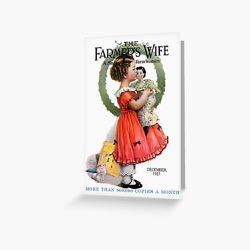 Vintage Christmas Farmer's Wife Magazine Cover (1927) Greeting Card