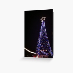 Christmas Tree of Lights Greeting Card