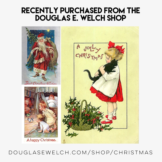 Recently Purchased Vintage Christmas Cards from Douglas E. Welch Design and Photography