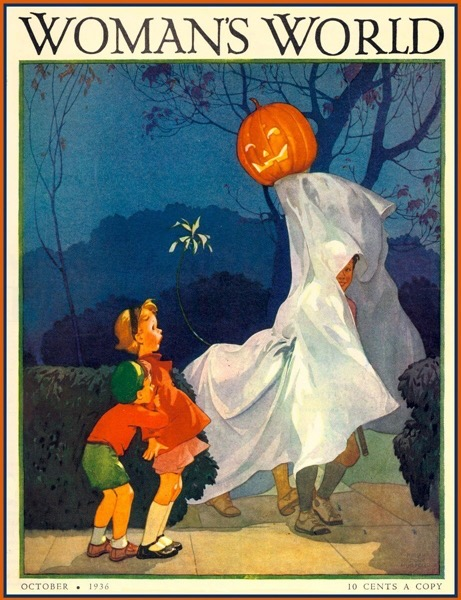 Halloween 2020 - 35 in a series - Vintage Woman's World Halloween Cover (1936)